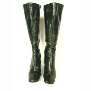 "Nine West Boots Size.6.5 Black 3"" High Heel"